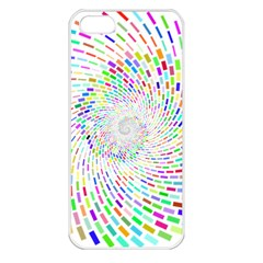 Prismatic Abstract Rainbow Apple Iphone 5 Seamless Case (white)
