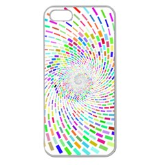 Prismatic Abstract Rainbow Apple Seamless Iphone 5 Case (clear)