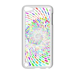 Prismatic Abstract Rainbow Apple Ipod Touch 5 Case (white)