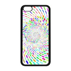 Prismatic Abstract Rainbow Apple Iphone 5c Seamless Case (black)