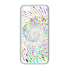 Prismatic Abstract Rainbow Apple Iphone 5c Seamless Case (white)