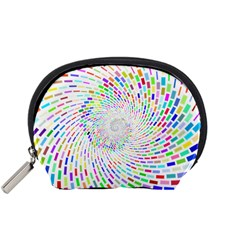 Prismatic Abstract Rainbow Accessory Pouches (small)