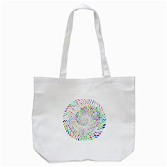 Prismatic Abstract Rainbow Tote Bag (white)