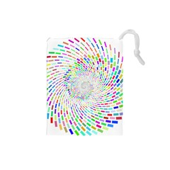 Prismatic Abstract Rainbow Drawstring Pouches (small)