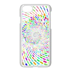Prismatic Abstract Rainbow Apple Iphone 8 Seamless Case (white)
