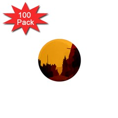 Road Trees Stop Light Richmond Ace 1  Mini Magnets (100 Pack)