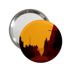 Road Trees Stop Light Richmond Ace 2 25  Handbag Mirrors