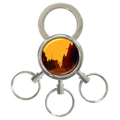 Road Trees Stop Light Richmond Ace 3 Ring Key Chains