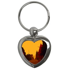 Road Trees Stop Light Richmond Ace Key Chains (heart)