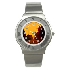 Road Trees Stop Light Richmond Ace Stainless Steel Watch