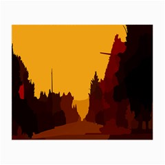 Road Trees Stop Light Richmond Ace Small Glasses Cloth (2 Side)