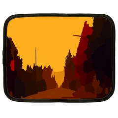 Road Trees Stop Light Richmond Ace Netbook Case (large)