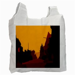 Road Trees Stop Light Richmond Ace Recycle Bag (two Side)