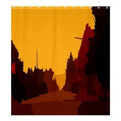 Road Trees Stop Light Richmond Ace Shower Curtain 66  X 72  (large)