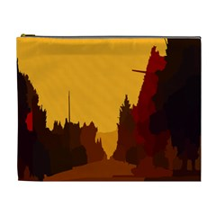 Road Trees Stop Light Richmond Ace Cosmetic Bag (xl)