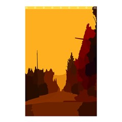 Road Trees Stop Light Richmond Ace Shower Curtain 48  X 72  (small)