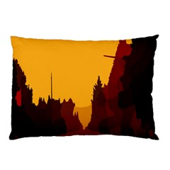 Road Trees Stop Light Richmond Ace Pillow Case (two Sides)