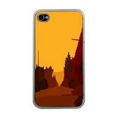 Road Trees Stop Light Richmond Ace Apple Iphone 4 Case (clear)