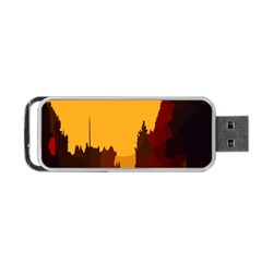 Road Trees Stop Light Richmond Ace Portable Usb Flash (one Side)