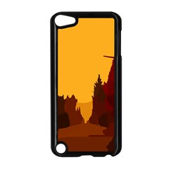 Road Trees Stop Light Richmond Ace Apple Ipod Touch 5 Case (black)