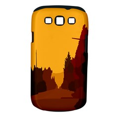 Road Trees Stop Light Richmond Ace Samsung Galaxy S Iii Classic Hardshell Case (pc+silicone)