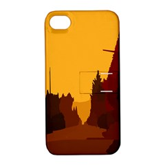 Road Trees Stop Light Richmond Ace Apple Iphone 4/4s Hardshell Case With Stand