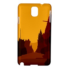 Road Trees Stop Light Richmond Ace Samsung Galaxy Note 3 N9005 Hardshell Case