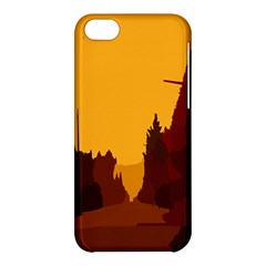 Road Trees Stop Light Richmond Ace Apple Iphone 5c Hardshell Case