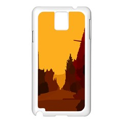 Road Trees Stop Light Richmond Ace Samsung Galaxy Note 3 N9005 Case (white)
