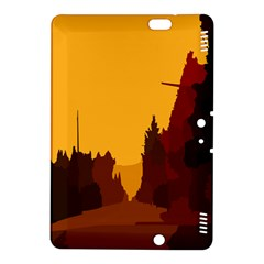 Road Trees Stop Light Richmond Ace Kindle Fire Hdx 8 9  Hardshell Case