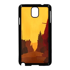 Road Trees Stop Light Richmond Ace Samsung Galaxy Note 3 Neo Hardshell Case (black)