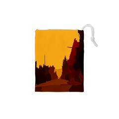 Road Trees Stop Light Richmond Ace Drawstring Pouches (xs)