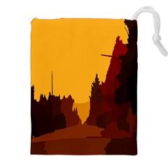 Road Trees Stop Light Richmond Ace Drawstring Pouches (xxl)