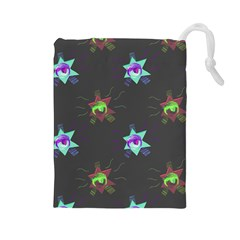 Random Doodle Pattern Star Drawstring Pouches (large)