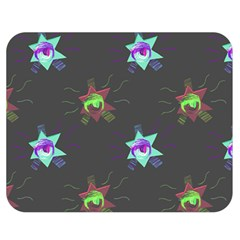 Random Doodle Pattern Star Double Sided Flano Blanket (medium)