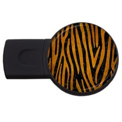 Skin4 Black Marble & Yellow Grunge Usb Flash Drive Round (4 Gb)