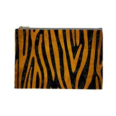 Skin4 Black Marble & Yellow Grunge Cosmetic Bag (large)