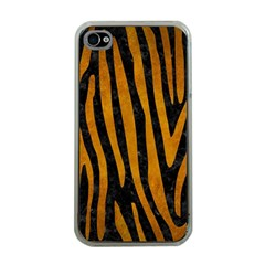 Skin4 Black Marble & Yellow Grunge Apple Iphone 4 Case (clear)