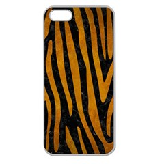 Skin4 Black Marble & Yellow Grunge Apple Seamless Iphone 5 Case (clear)