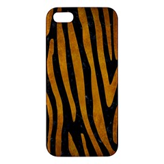 Skin4 Black Marble & Yellow Grunge Apple Iphone 5 Premium Hardshell Case