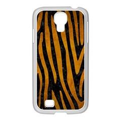Skin4 Black Marble & Yellow Grunge Samsung Galaxy S4 I9500/ I9505 Case (white)