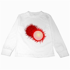 Rambutan Fruit Red Sweet Kids Long Sleeve T Shirts