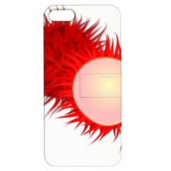 Rambutan Fruit Red Sweet Apple Iphone 5 Hardshell Case With Stand