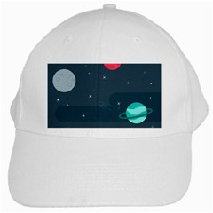 Space Pelanet Galaxy Comet Star Sky Blue White Cap
