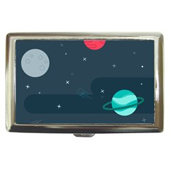 Space Pelanet Galaxy Comet Star Sky Blue Cigarette Money Cases
