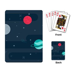 Space Pelanet Galaxy Comet Star Sky Blue Playing Card