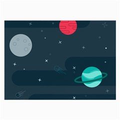 Space Pelanet Galaxy Comet Star Sky Blue Large Glasses Cloth