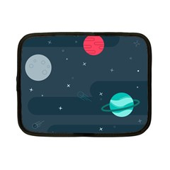 Space Pelanet Galaxy Comet Star Sky Blue Netbook Case (small)