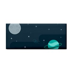 Space Pelanet Galaxy Comet Star Sky Blue Cosmetic Storage Cases