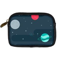 Space Pelanet Galaxy Comet Star Sky Blue Digital Camera Cases